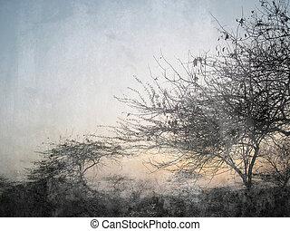 städtisch, Bäume, hintergrund