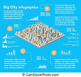 städtisch, infographics, stadt
