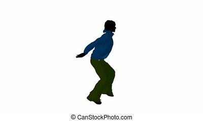 städtisch, mann, tanzen