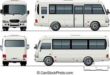 städtisch, passagier, mini-bus