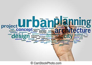 städtische planung, wort, wolke