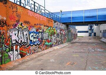 städtischer graffiti