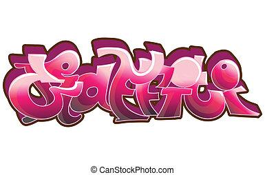 städtischer graffiti, kunst