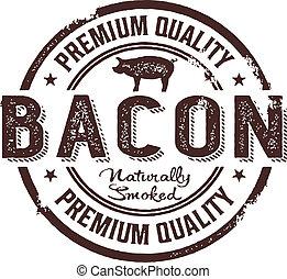 stämpel, årgång, stil, bacon