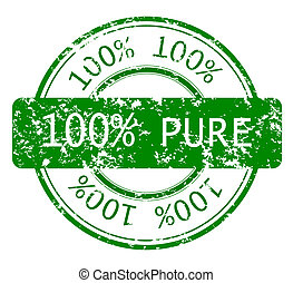 stämpel, 100%, ekologi, ren