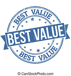 stämpel, bäst, värdera