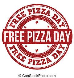 stämpel, dag, gratis, pizza
