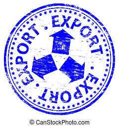 stämpel, exportera
