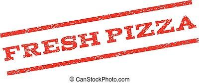 stämpel, frisk, pizza, watermark