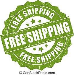 stämpel, gratis, skeppning