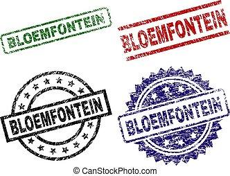 stämpel, grunge, bloemfontein, tätningar, strukturerad