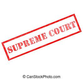 stämpel, högsta domstolen, röd fyrhörning