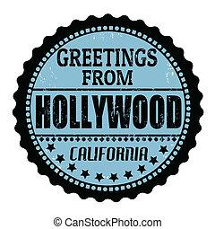 stämpel, hollywood, hälsningar