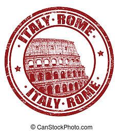 stämpel, italien, rom