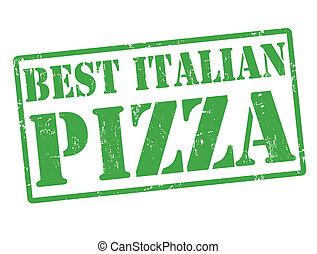 stämpel, italiensk, bäst, pizza