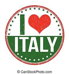 stämpel, kärlek, italien
