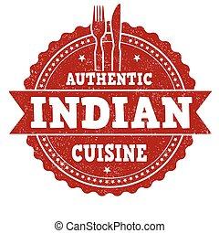 stämpel, kokkonst, indisk