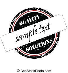 stämpel, kvalitet, lösningar