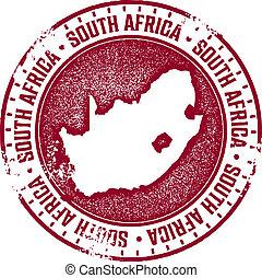 stämpel, land, afrika, syd