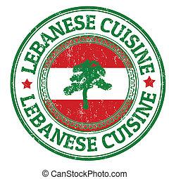 stämpel, libanesisk, kokkonst