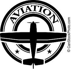 stämpel, luftfart, vektor