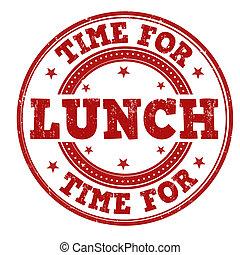 stämpel, lunchtid