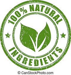 stämpel, naturlig, ingredienser