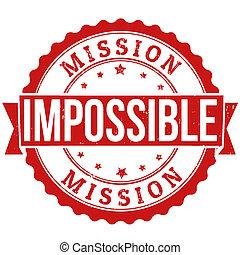 stämpel, omöjlig, mission