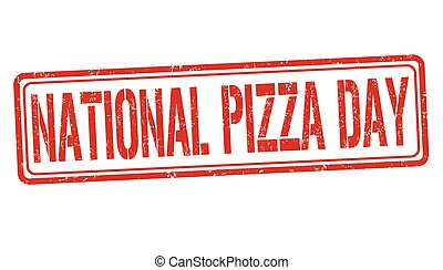 stämpel, pizza, eller, dag, underteckna
