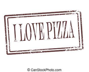 stämpel, pizza