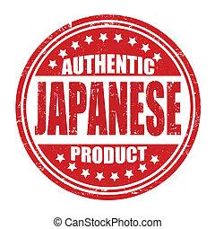 stämpel, produkt, autentisk, japansk