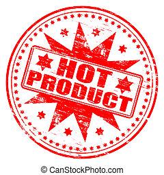 stämpel, produkt, varm