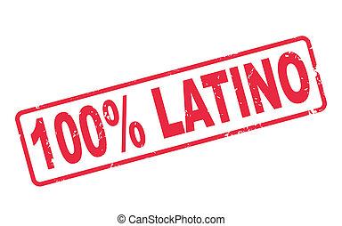 stämpel, text, procent, 100, latino, vit röd