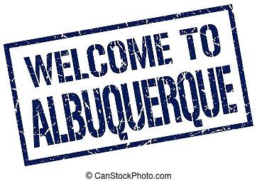stämpel, välkommen, albuquerque