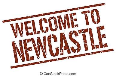 stämpel, välkommen, newcastle