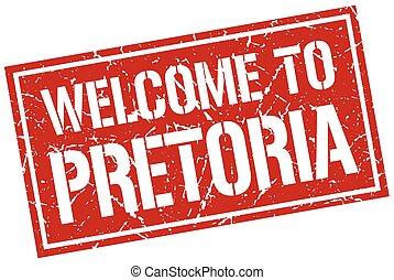stämpel, välkommen, pretoria