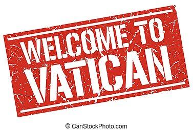 stämpel, välkommen, vatikanen