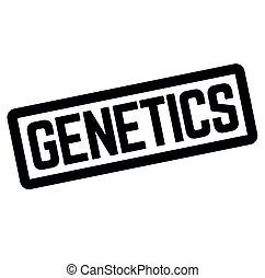 stämpel, vit, genetik