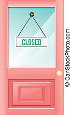 stängd dörr
