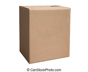 stängd, kartong kasse