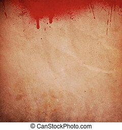 stänk, grunge, blod, bakgrund