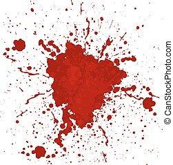 stänka ner, abstrakt, vektor, blod, isolerat