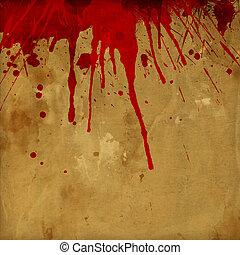 stänka ner, grunge, blod, bakgrund