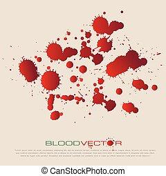 stänka ner, vektor, design, blod, isolerat