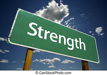 stärke, straße zeichen