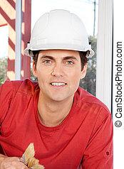 stående, anläggningsarbetare