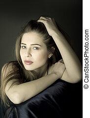 stående, av, a, vacker, sexig, womanimage, id:, 2628