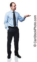 stående, av, affärsman