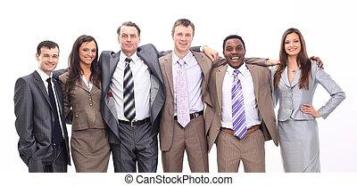 stående, av, framgångsrik, affärsverksamhet lag