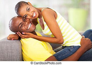 stående, av, glatt par